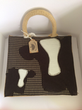 Cow Small Jute Lunch Bag